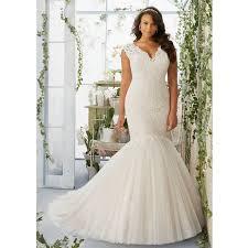 mermaid plus size wedding dress rm3192 elegant lace appliques v