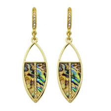 fashion ancient golden mulberry stone pendant earrings