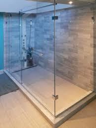 a sliding shower door