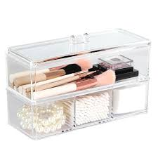 portable transpa makeup organizer storage box acrylic make up organizer cosmetic organizer makeup storage drawers organizer