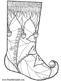 Small Picture Christmas Stocking Coloring Page