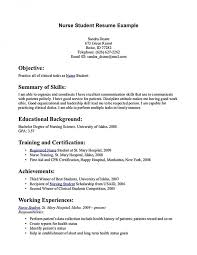 Nursing Student Resume Examples | Example Resume And Resume