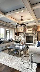 family room chandelier ceiling detail and stone fireplace modern what size for two story chandeliers family room