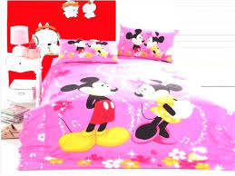 mickey and minnie bedding mickey and bed set holding hands
