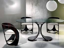 Floor Tables Creative Dining Room Tables Black Paint Color Base Furniture Ideas