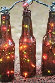Decorate Beer Bottles For Christmas Beer Bottle Christmas Lights for our back porch We will throw 1