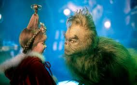 the grinch.  Grinch Jim Carey And Taylor Momsen In How The Grinch Stole Christmas For C