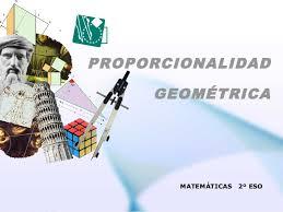 Resultado de imagen para proporcionalidad geometrica