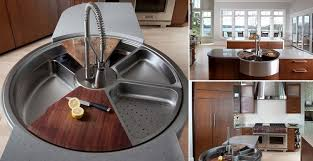 awesome rotating sink has cutting board colander and more icreatived