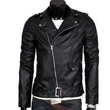 wonderful toy men leather jacket slim fit motorcycle jacket zipper casual coat spring autumn winter