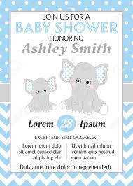 Baby Elephant Template Vector Card Template With Cute Elephants Card Template For Baby