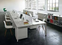 office desking. Cool And Opulent Long White Desk Modest Design Furniture Modern Office For Desking