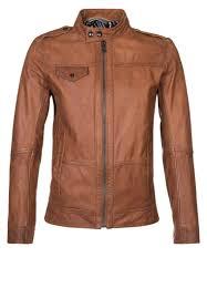 fine acclaimed boss orange jovolt leather jacket brown men