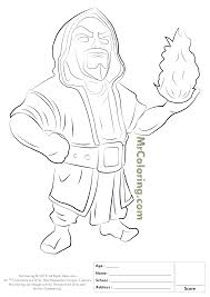 Free Printable Clash Of Clans Wizard Coloring Pages 1 Clash Of
