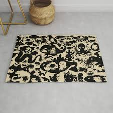 Carpet Quality Chart Size Chart Of Sea Monsters Rug By Djrb