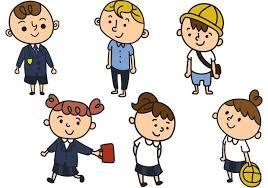 Schoolchildren In Uniform Cartoon Vectors Download Free