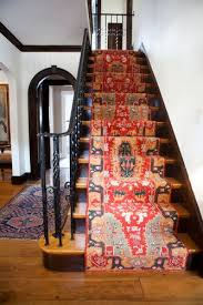 oriental stair runner. Unique Runner I LOVE The Oriental Carpet Runner On These Stairs Intended Oriental Stair Runner