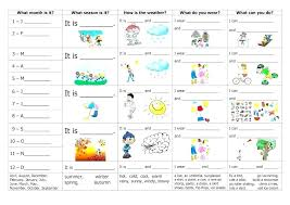 four seasons kindergarten worksheets – lesrosesdor.info