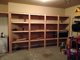 garage shelving ideas diy wood wall mounted