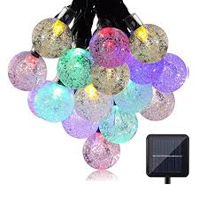 solar string lights eveshine 19 7 ft 30 led outdoor solar powered solar string lights eveshine 19 7 ft 30 led outdoor solar powered crystal ball globe string lights for garden path patio yard home halloween