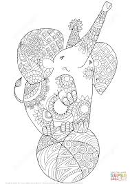 Small Picture Cute Elephant Zentangle coloring page Free Printable Coloring Pages