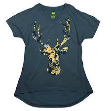 <b>Womens</b> Floral Deer Head <b>V</b>-Neck Tee <b>S</b>-<b>2XL</b> | <b>Womens</b> Clothing ...