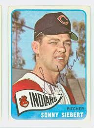 Sonny Siebert AUTOGRAPH 1965 Topps #96 Cleveland Indians CARD IS VG/EX;  AUTO CLEAN at Amazon's Sports Collectibles Store