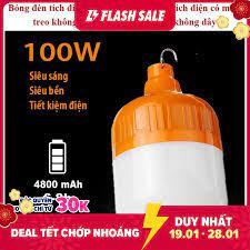 Bóng đèn led sạc tích điện 100w và 120w, bóng đèn tích điện 3 chế độ. loại bóng  led: độ sáng cao, tiết kiệm năng lượng - Sắp xếp theo liên quan