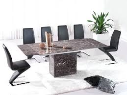 extending dining table with 6 chairs brown extending dining table 6 z chairs marble hudson round
