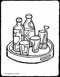 Dienblad Met Flessen En Glazen Kiddicolour