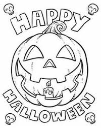 Small Picture Happy Halloween Coloring Pages For Kids Pinteres