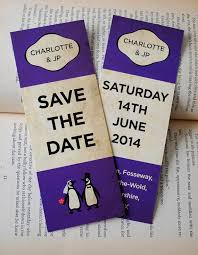 bookmark save the date classic penguin books themed wedding save the date bookmarks by