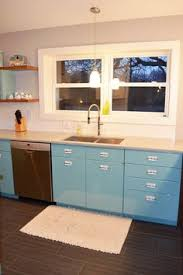 sam has a great experience with powder coating her vintage steel kitchen cabinets i99