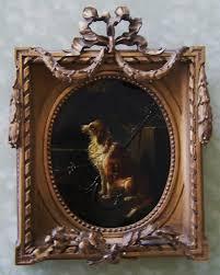 antique dog painting