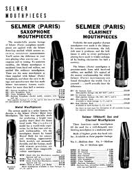 Selmer Saxophone Mouthpiece Comparison Chart Selmer Mouthpieces Theo Wanne