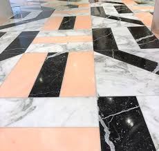 design flooring with roso portagallo nero marquina and arabeo marble