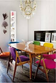 ecelectic colorful dining chairs source modern dining room