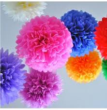 Tissue Paper Pom Poms Flower Balls Tissue Paper Pom Poms Flower Balls Wedding Party Baby Shower Decor