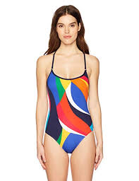 Nautica Womens Lace Back One Piece Swimsuit At Amazon