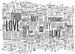 wordle of the first lines of william shakespeare s twelfth
