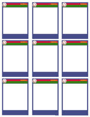 free trading card template baseball card templates free blank printable customize