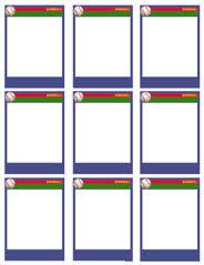 Baseball Card Templates Free Blank Printable Customize