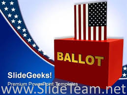American Ballot Box Government Powerpoint Background