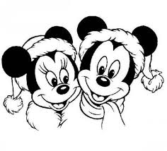 Small Picture Mickey And Minnie Mouse Christmas Coloring Pages Printable