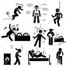 労働安全と健康労働者事故防災ピクトグラム