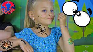 набор для создания детских тату рисуем тату видео для девочек Entertainment For Children