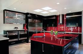 Red And Black Kitchen Kitchen Black Kitchen Cabinets With Dramatic Kitchen With Black