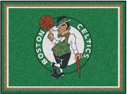 boston celtics nba area rug 8 ft x 10 ft