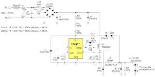 led driver circuit diagram the wiring diagram an022 richtek technology circuit diagram