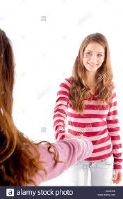Shake brunette teen down